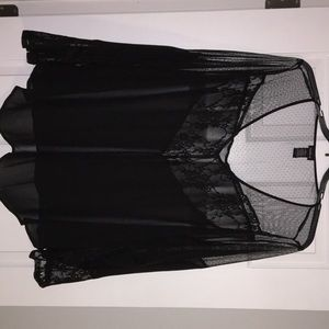 Torrid Lace and Mesh blouse